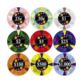 Pokerchip Mossaics Keramik
