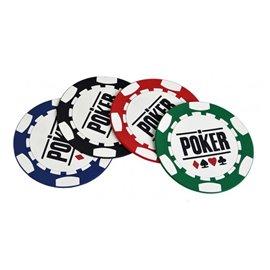 Pokerchip Untersetzer (4 Stück)